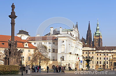 One of the squares of the old Prague Editorial Image
