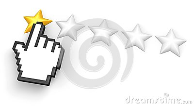 One star rating. Hand cursor.
