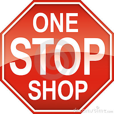 One Stop Shop Sign Symbol