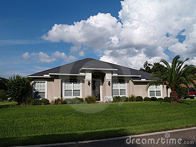 One Story Florida Stucco Home