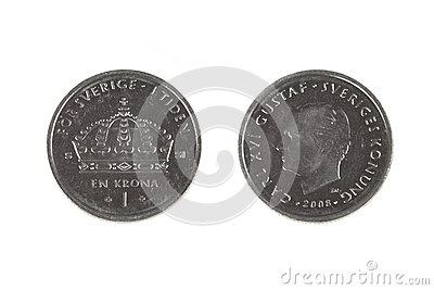 One Swedish Crown coin