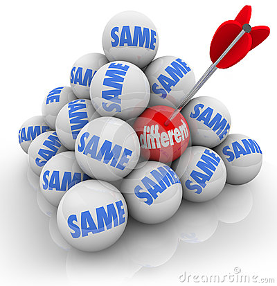 Free One Targeted Ball Different Vs Same Change Innovation Stock Images - 31915564