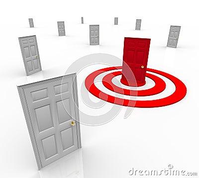 One Targeted Door Address in Bulls-Eye Target