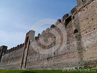 One of towers in the city wall of Cittadella
