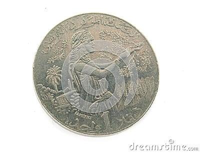 One Tunis dinar