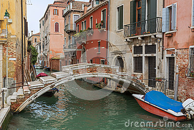Bridge with no sides Venice