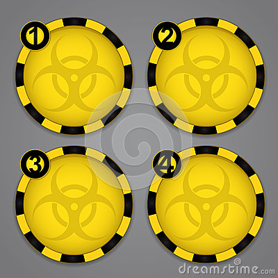 One, Two, Three, Four Bio hazard Circular Warning