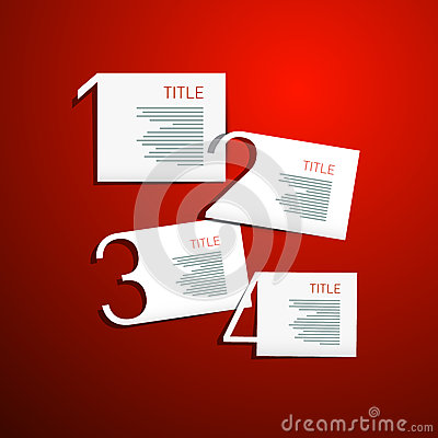 Free One, Two, Three, Four, Vector Steps For Tutorial, Infographics Stock Images - 37049874