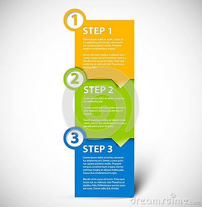 Free One Two Three - Vector Paper Steps Royalty Free Stock Image - 25853826