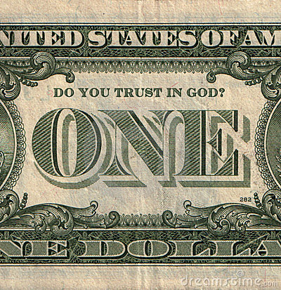 One U.S. dollar banknote with question