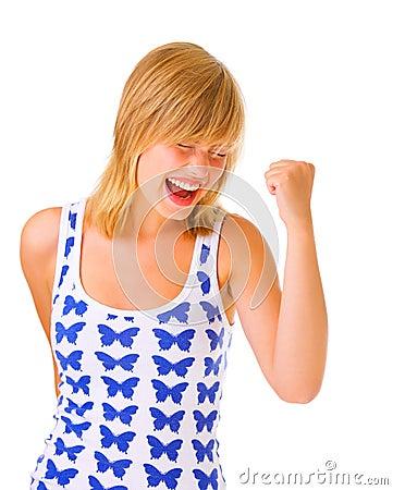 One very happy girl