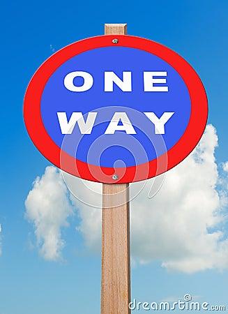 One way.