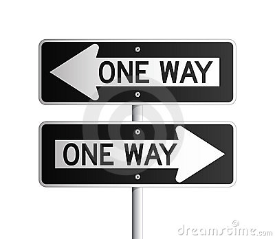 One way board 2