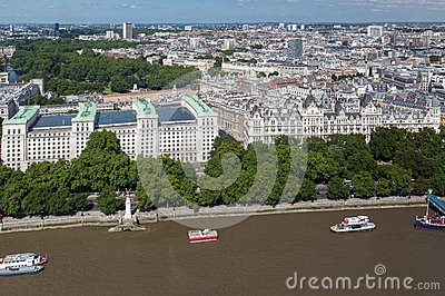 One Whitehall Place - Ministry of Defense London Editorial Stock Image
