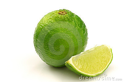 One whole lime fruit and a piece