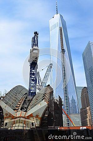 One World Trade Center Construction Editorial Photography