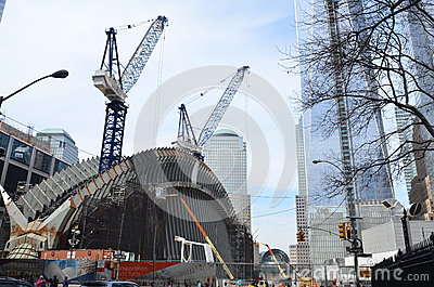 One World Trade Center Construction Editorial Stock Image