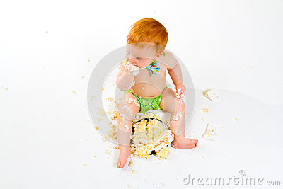 Smashed Cake Clipart : One Year Old Cake Smash Stock Photos - Image: 31401233