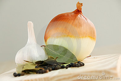 Onion and herbs