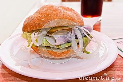 Onion and Herring Sandwich