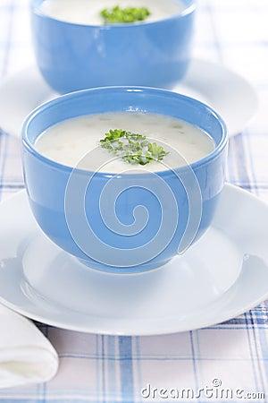 Onion pureed soup