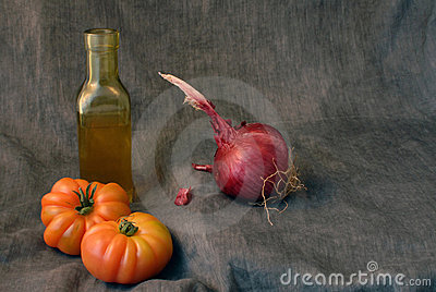 Onion and tomatoes