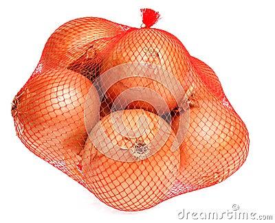 Onions in net