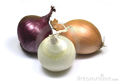 Onions – red, brown and white