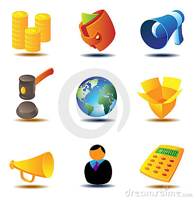 Free Online Auction Icons Royalty Free Stock Image - 11688306