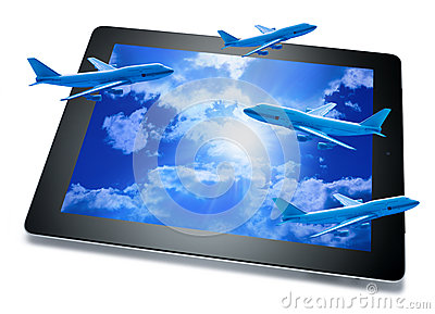 Online Booking Travel Tablet