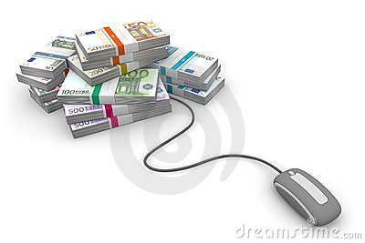 Online Cash - Grey Mouse and Euro Cash Packets