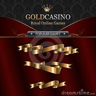 Free Online Casino Template Elements With Ribbons Stock Images - 10513014