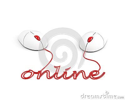 Online. connection concept