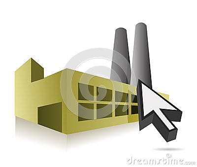 Online Factory and cursor illustration design