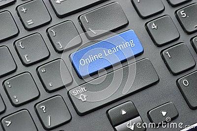 Online learning key on keyboard