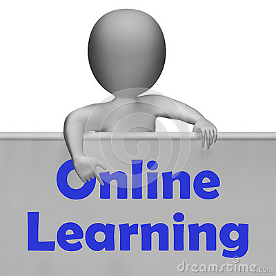 Online Learning Sign Means E-Learning Stock Images - Image ...