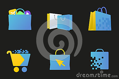Online market icon, Digital store sign