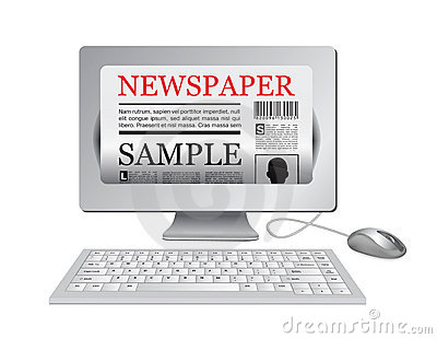 Online newspaper.Computer and news website