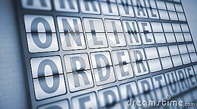 Online order information on display board