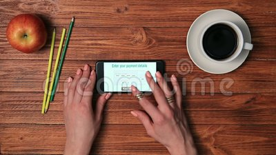 Online purchase payment with e-commerce banking stock footage