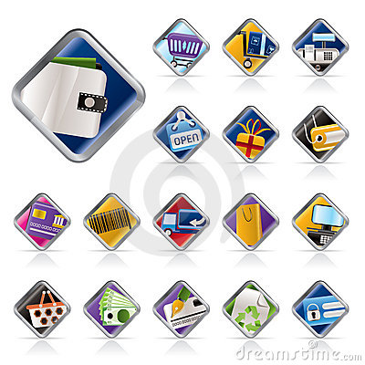 Online Shop, e-commerce and web site icons