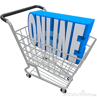 Online Shopping Cart Basket Word Internet Web Store