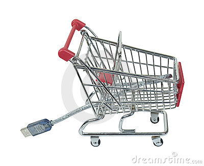 Online Shopping Cart with Cable