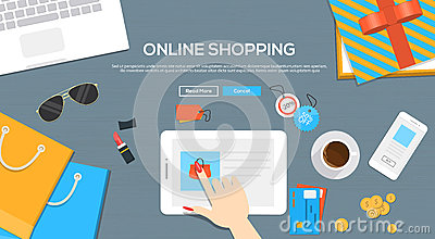 Online shopping credit line