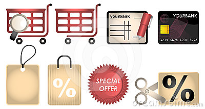 Online Shopping Vector Web Icons