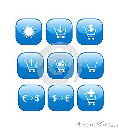 Online store web shop icons