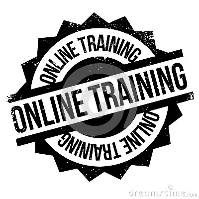 Coloring Effects Online : Online training stamp stock photo image: 83094676
