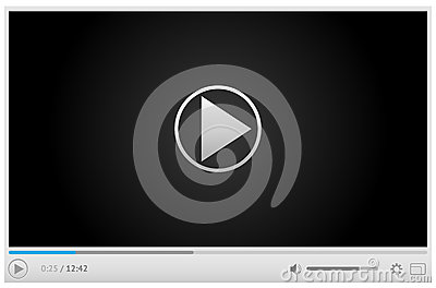 Online video player for web in light colors