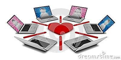 Onlinedatierungs-Netz
