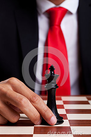 Free Only King Left On The Board Stock Photo - 26398800